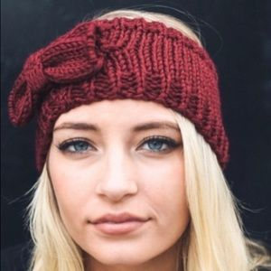 $10 or Less HP🎉Burgundy Sweater Knit Bow Headband